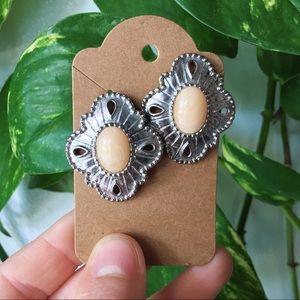Vintage Silver Western Style Earrings
